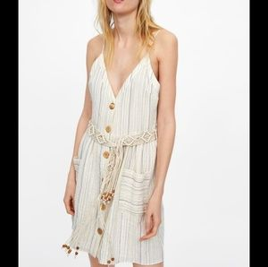 Zara Dresses - NWT Zara Striped Dress Beaded Belt 2890/771